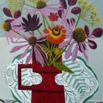 Echinacea in Red Jug