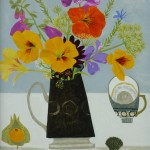 Nasturtiums_and_Black_Jug