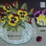 Pansies_on_Fern_Plate