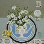 Snowdrops_on_Blue_Plate